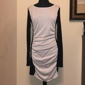 Grey/ Silver and Black fitted dress